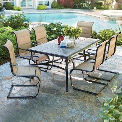 Patio Dining Sets – Patio Dining Furniture – The Home Depot Pertaining To Outdoor Dining Table And Chairs Sets (View 3 of 25)