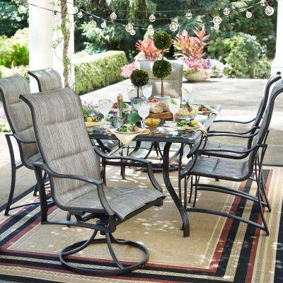 Patio Dining Sets – Patio Dining Furniture – The Home Depot Within Market 7 Piece Dining Sets With Host And Side Chairs (View 18 of 25)