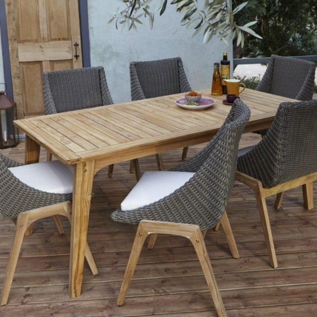 Patio: Extraordinary Outdoor Tables And Chairs Patio Dining Sets With Garden Dining Tables And Chairs (View 7 of 25)