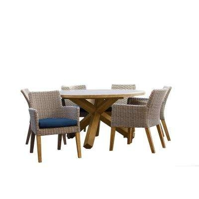 Patio Plus – Patio Dining Furniture – Patio Furniture – The Home Depot Pertaining To Outdoor Brasilia Teak High Dining Tables (View 8 of 25)