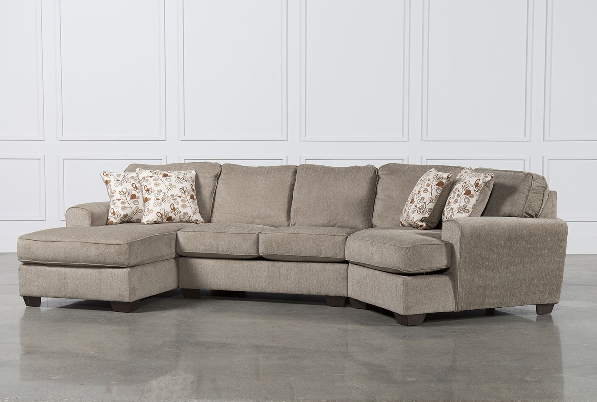 Patola Park 3 Piece Cuddler Sectional W/laf Corner Chaise With Regard To Sierra Down 3 Piece Sectionals With Laf Chaise (Image 20 of 25)