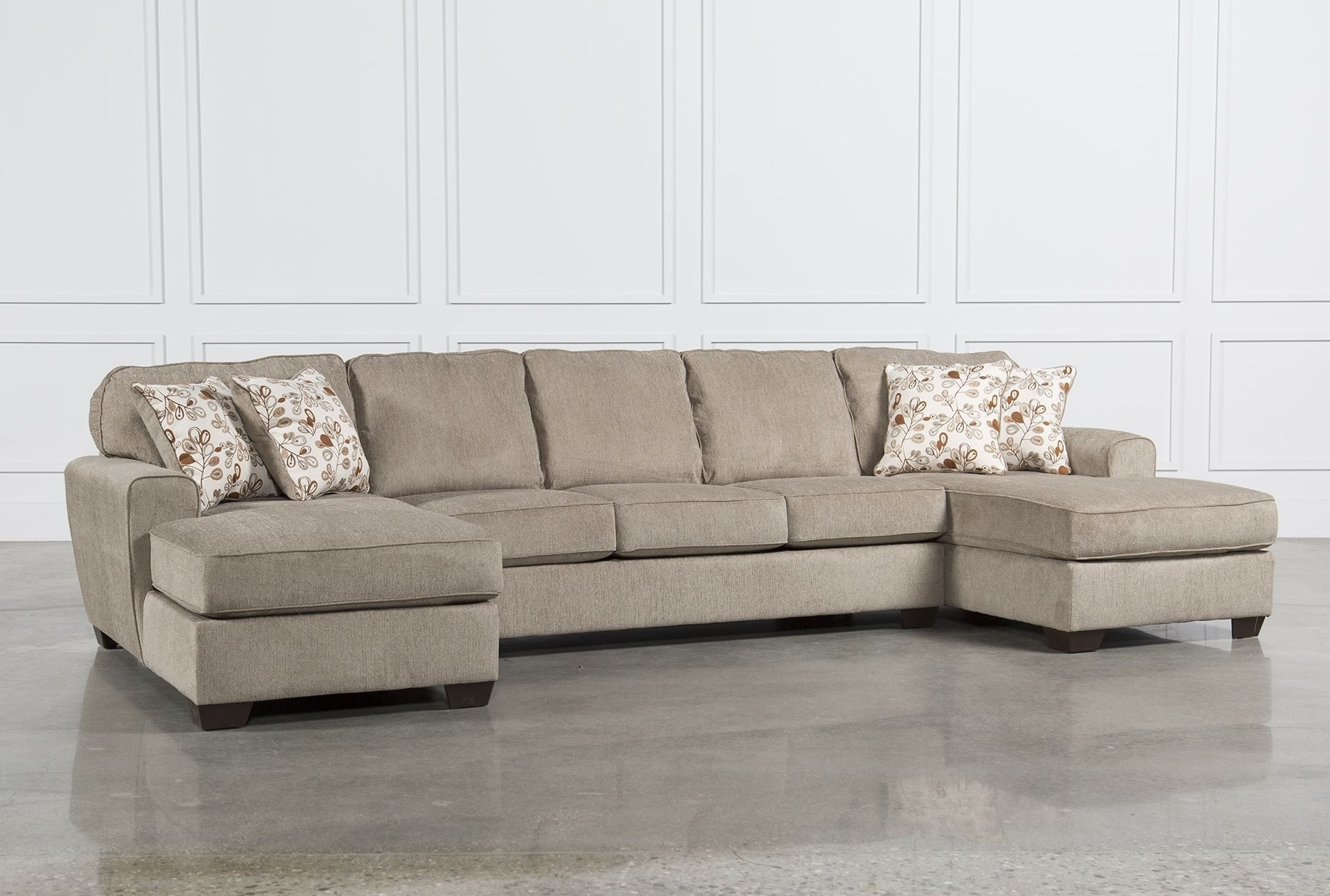 Patola Park 3 Piece Sectional W/2 Corner Chaises | Mountain Modern For Malbry Point 3 Piece Sectionals With Raf Chaise (Image 25 of 25)