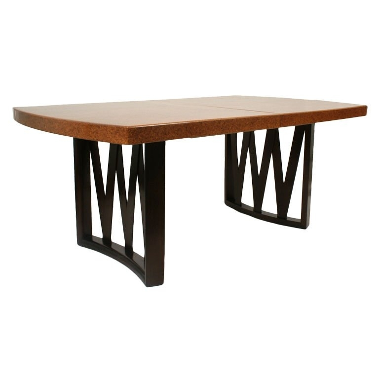 Paul Frankl 1940S Dining Table In Mahogany And Cork At 1Stdibs Pertaining To Cork Dining Tables (Image 16 of 25)