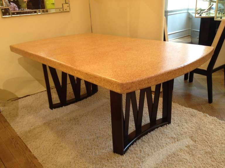 Paul Frankl Cork Top Dining Table At 1Stdibs For Cork Dining Tables (View 7 of 25)