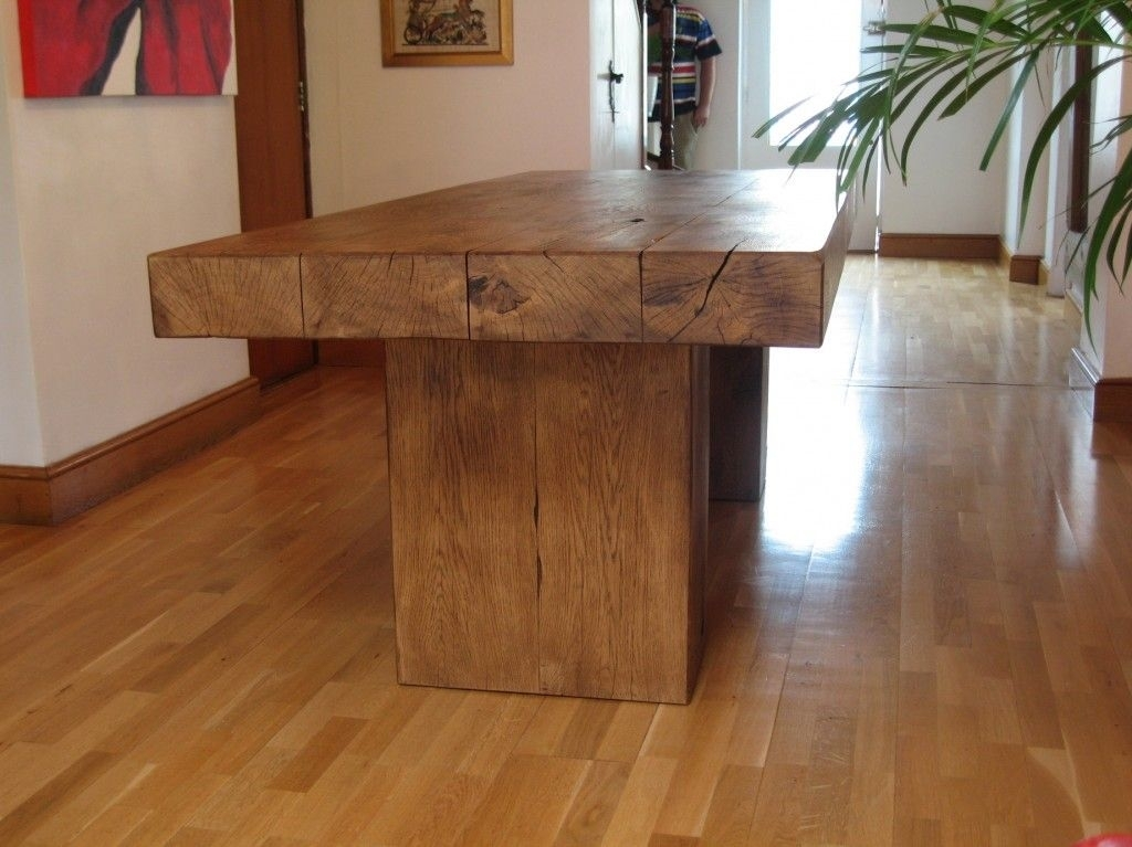 Pedestal Base Dining Table In 2018 | Decor Ideas | Pinterest in Rustic Oak Dining Tables