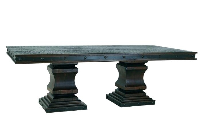 Pedestal Dining Set Dining Table Pedestal Dining Table Rectangular With Magnolia Home Double Pedestal Dining Tables (Image 23 of 25)
