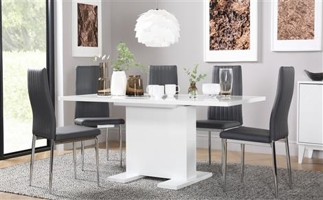 Pedestal Dining Sets | Furniture Choice Regarding Pedestal Dining Tables And Chairs (Image 20 of 25)