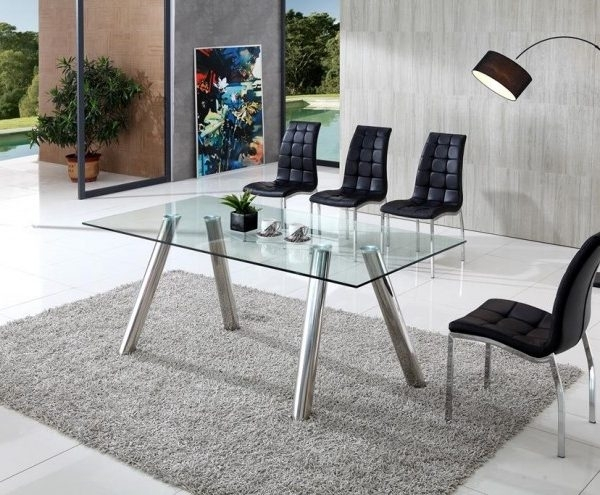 Pedro Clear Glass Dining Table With Angel Chairs – Implex Supplies Pertaining To Clear Glass Dining Tables And Chairs (Image 19 of 25)