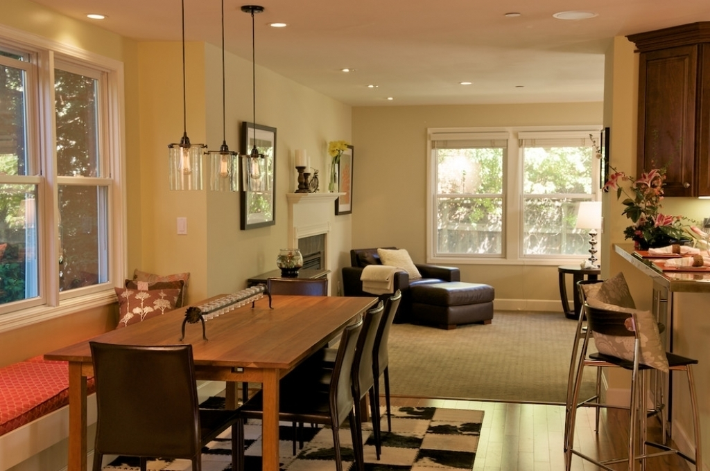 Pendant Dining Room Light Fixtures Fascinating Rectangular Pendant With Dining Tables Lighting (Image 22 of 25)