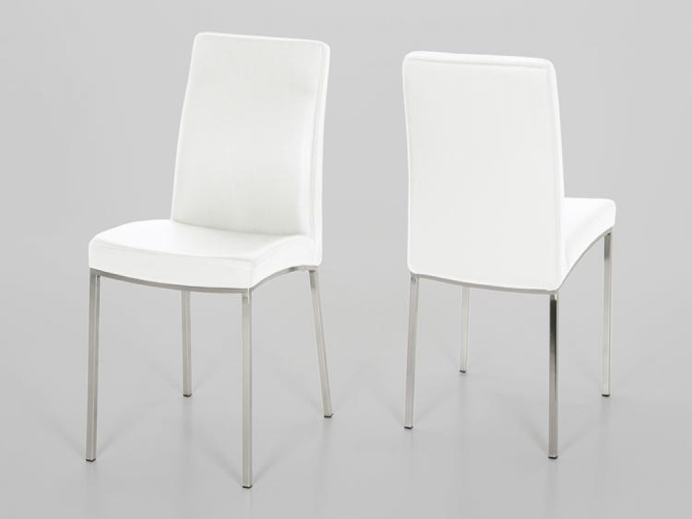 Perfect Decision For Your Home Interior – White Leather Dining Room For White Leather Dining Room Chairs (Image 13 of 25)