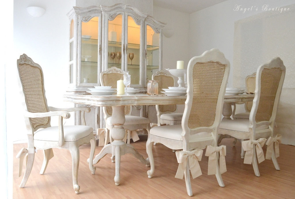 Perfect For Christmas ** Unique & Beautiful ** French Shabby Chic In French Chic Dining Tables (Image 21 of 25)