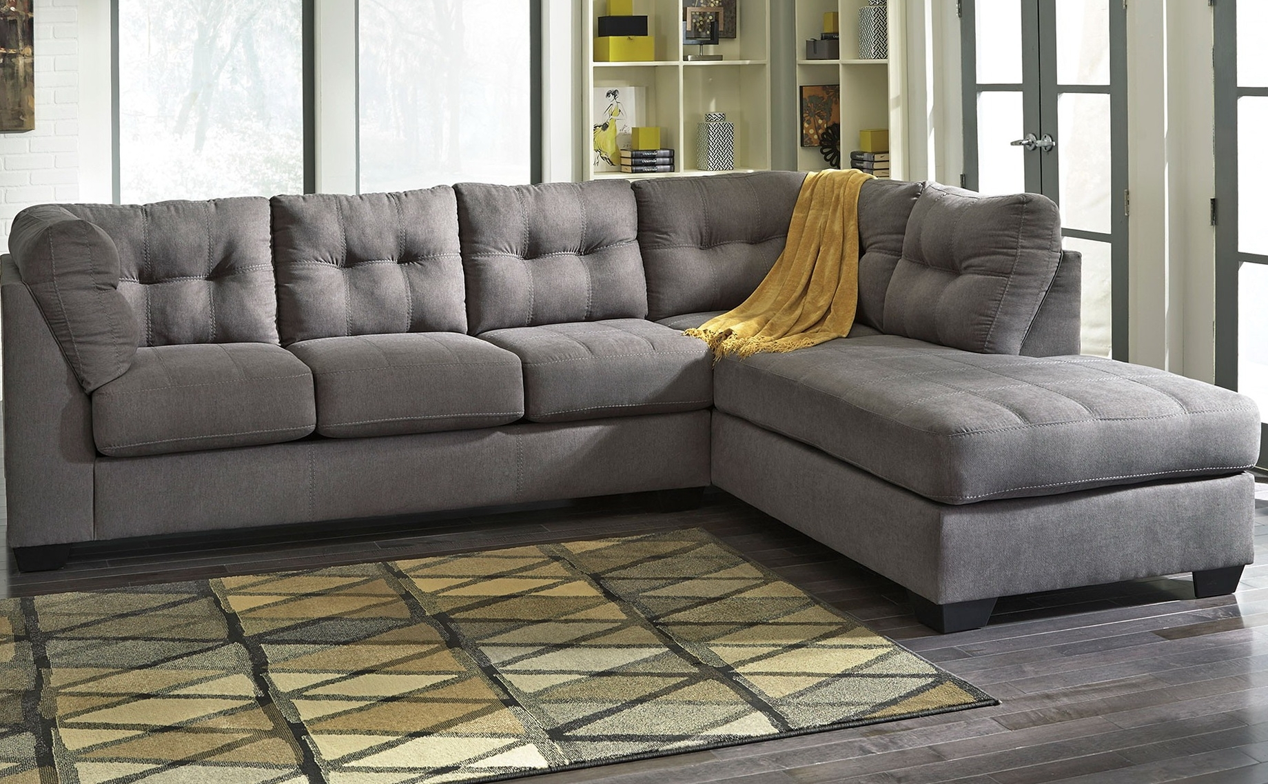 Perfect Grey Sectional Sofa With Chaise 31 For Your Modern Sofa Within Delano 2 Piece Sectionals With Laf Oversized Chaise (Image 21 of 25)