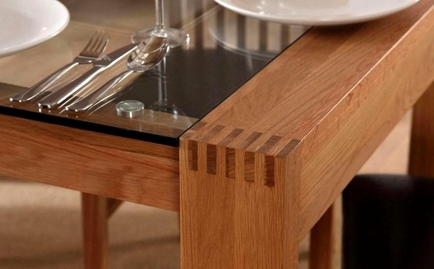 Phenomenal Oak Glass Dining Tables Ideas Brilliant Oak Glass Dining With Regard To Oak And Glass Dining Tables (View 16 of 25)