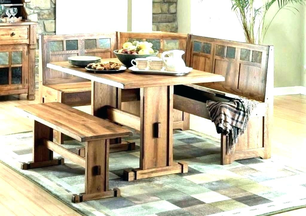 Picnic Bench Style Dining Table Bench Style Dining Table Gray Dining Inside Indoor Picnic Style Dining Tables (Image 13 of 25)