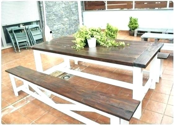 Picnic Style Dining Table Excellent Ideas Bench Style Dining Table Intended For Indoor Picnic Style Dining Tables (Image 18 of 25)