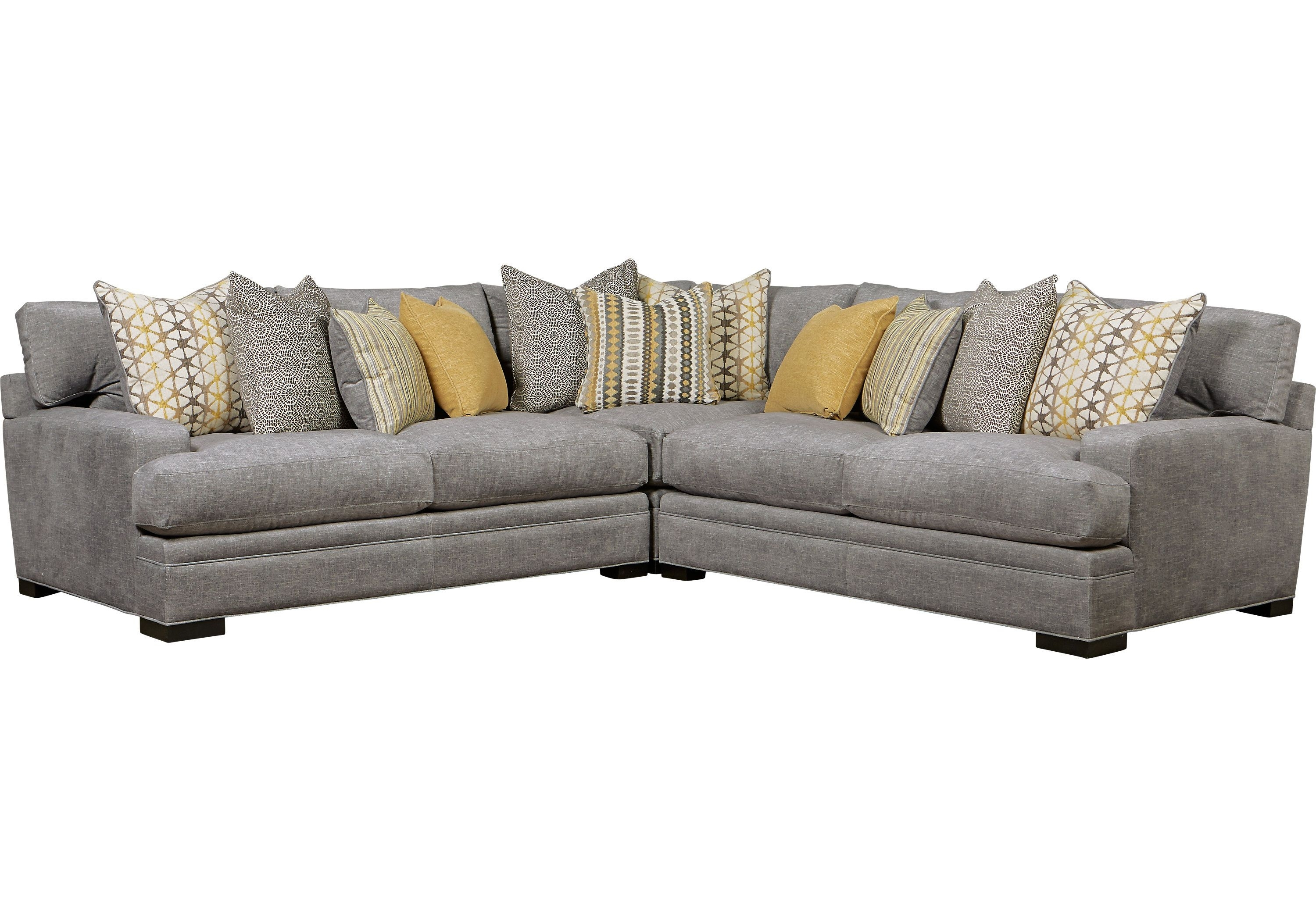 Picture Of Cindy Crawford Home Palm Springs Gray 3 Pc Sectional From Intended For Cohen Down 2 Piece Sectionals (Image 22 of 25)