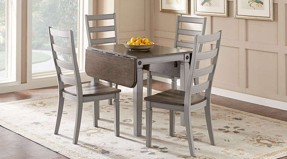 Picture Of Velino Gray 5 Pc Rectangle Dining Set From Furniture | Fl Inside Caira Black 5 Piece Round Dining Sets With Upholstered Side Chairs (Image 18 of 25)