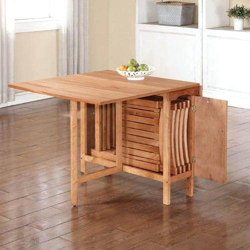 Pictures Gallery Of Captivating Folding Dining Table And Chairs Set Inside Black Folding Dining Tables And Chairs (View 8 of 25)