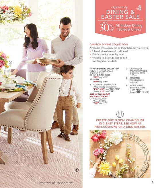 Pier 1 Imports – March 2018 Mailer – Dawson Natural Stonewash Buffet Inside Dawson Dining Tables (View 16 of 25)