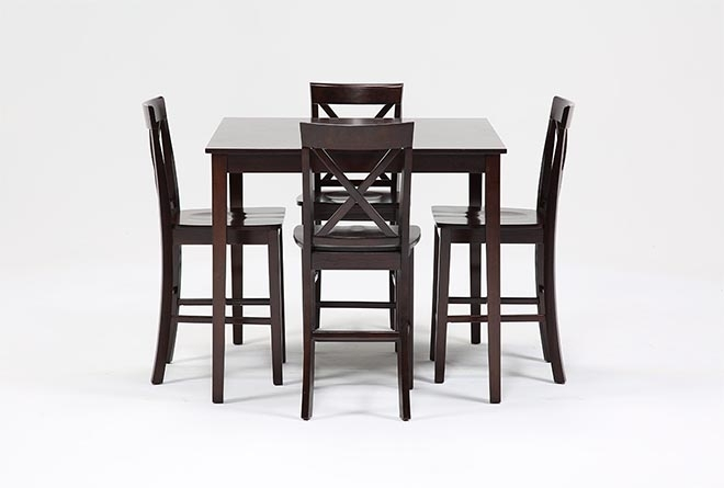 Pierce 5 Piece Counter Set | Living Spaces Intended For Pierce 5 Piece Counter Sets (View 1 of 25)