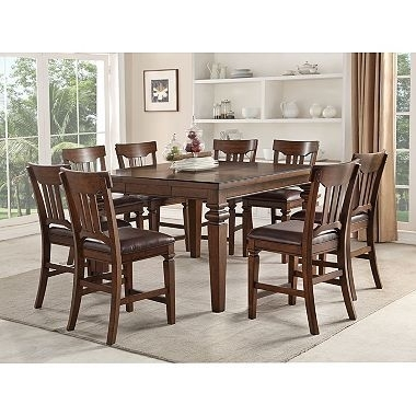 Pin123Bargains Deals On Home Decor | Pinterest | Counter Height Inside Craftsman 9 Piece Extension Dining Sets (View 11 of 25)