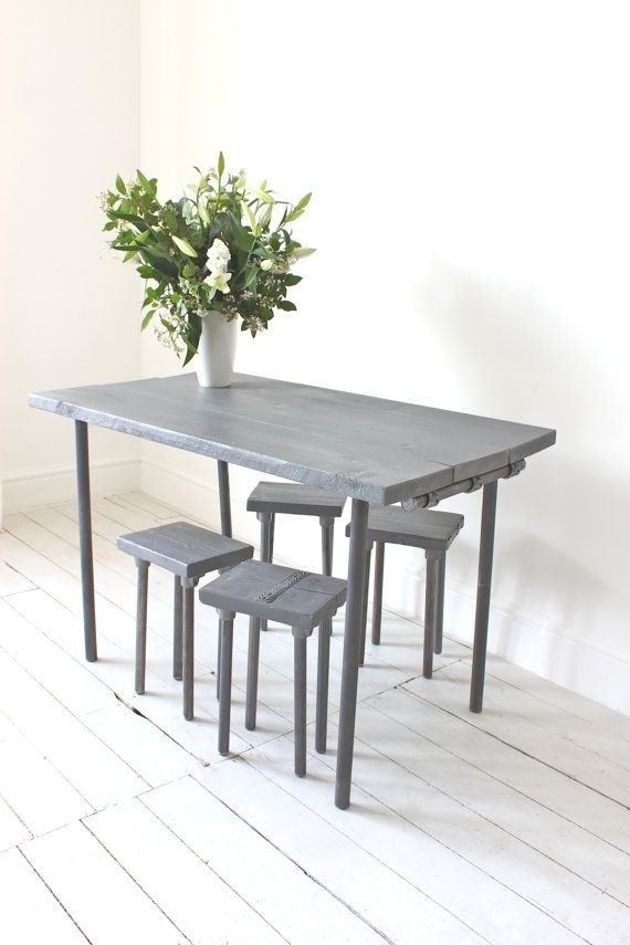 Pincarly Nessmann On Upcycling | Pinterest | Industrial Within Carly Rectangle Dining Tables (Image 21 of 25)