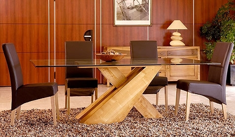 Pinetum, Corndell, Tch And French Dining Furniture At Karl Stallard Pertaining To Oak Glass Top Dining Tables (Image 18 of 25)