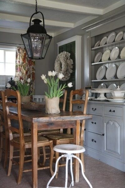 Pinkathie Gillaspie On Dining | Pinterest | Dining And Shabby With Regard To Bale Rustic Grey Dining Tables (View 11 of 25)