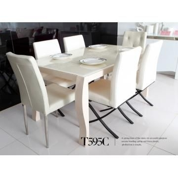 Pinlisa Roberts On Ideas For Home – Mostly Dreams :( | Pinterest Regarding Cream Gloss Dining Tables And Chairs (Image 19 of 25)