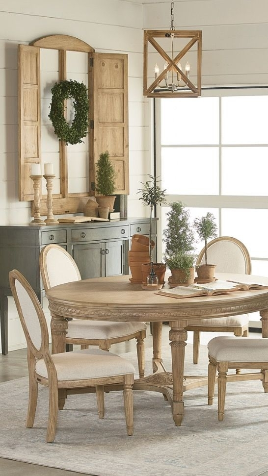 Pinlouise Heidenreich On Weezie's Cottage | Pinterest Within Magnolia Home English Country Oval Dining Tables (View 2 of 25)