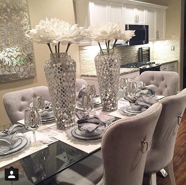 Pinmagasins Deco On Magasins Déco | Pinterest | Dining, Dining Pertaining To Dining Room Glass Tables Sets (Image 22 of 25)