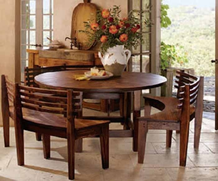 Pinmelinda Hall On Home In 2018 | Pinterest | Table, Dining And Throughout Small Dining Tables And Bench Sets (View 17 of 25)