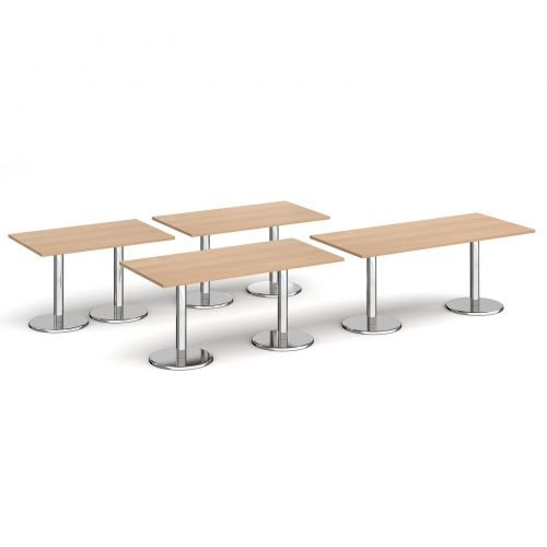 Pisa Circular Dining Table With Round Chrome Base 600Mm – Walnut Pertaining To Pisa Dining Tables (Image 8 of 25)