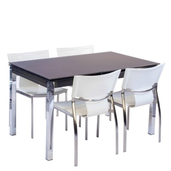 Pisa Frosted Glass Dining Table – House Of Denmark House Of Denmark For Pisa Dining Tables (Image 14 of 25)