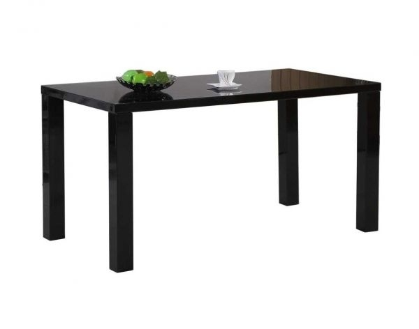 Pivero Black High Gloss Dining Table (4) | Furniturebox With Regard To Black High Gloss Dining Tables (Image 23 of 25)