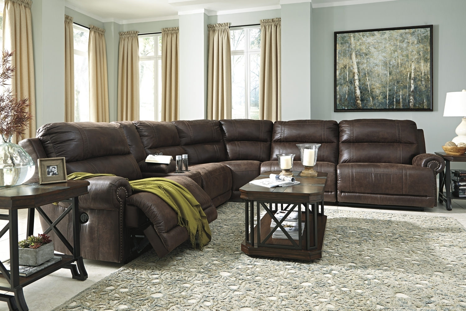 Placer 6 Piece Power Reclining Modular Sectional | Dock86 Throughout Blaine 3 Piece Sectionals (Image 19 of 25)
