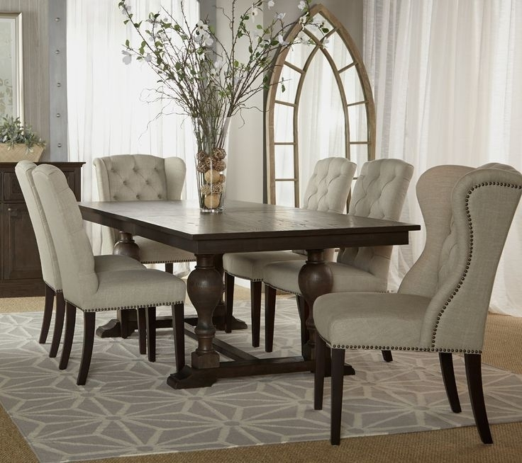 Plain Design Dining Room Sets With Fabric Chairs Norwood 6 Piece Inside Norwood 6 Piece Rectangular Extension Dining Sets With Upholstered Side Chairs (Image 17 of 25)