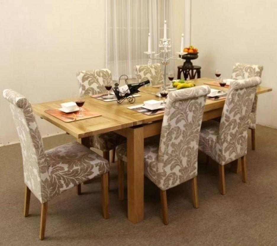 Plain Design Dining Room Sets With Fabric Chairs Norwood 6 Piece Throughout Norwood Rectangle Extension Dining Tables (View 20 of 25)