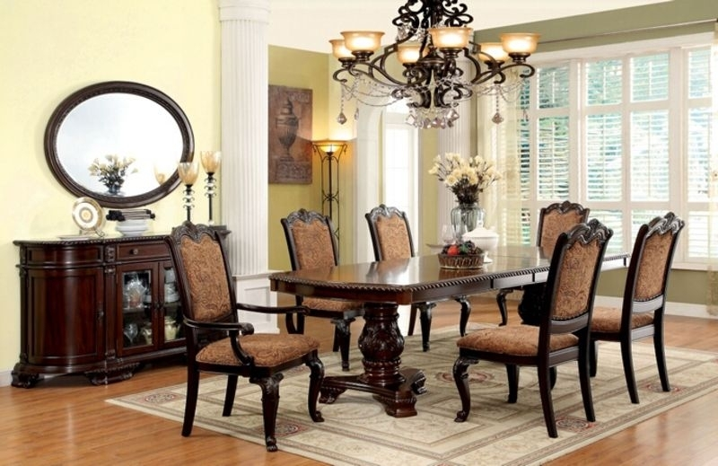 Plain Design Dining Room Sets With Fabric Chairs Norwood 6 Piece with regard to Norwood 9 Piece Rectangular Extension Dining Sets With Uph Side Chairs