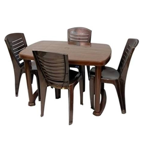 Plastic Dining Table Chair Set, Dining Table And Chairs, Khaana Regarding Dining Tables Chairs (Image 19 of 25)