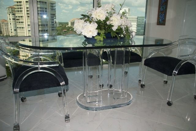 Plexiglass Dining Table | Acrylic Dining Tables : Acrylics Of Naples In Acrylic Dining Tables (Image 21 of 25)