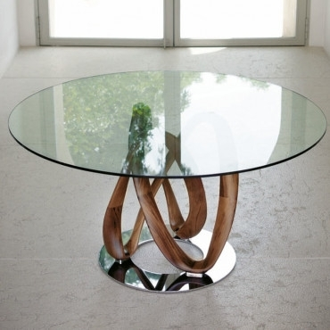 Porada Infinity Round Dining Table 130Cm Throughout Lassen Round Dining Tables (Image 20 of 25)