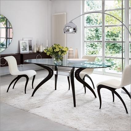Porada Retro Glass Dining Table,m. Marconato & T (Image 14 of 25)