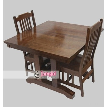 Portable Indian Sheesham Wooden Folding Dining Table Set With 2 Regarding Indian Dining Tables And Chairs (Image 19 of 25)