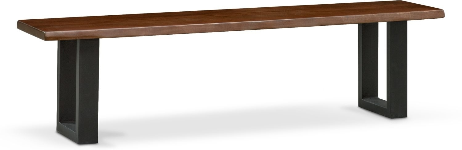 Portland Dining Bench – Cognac | American Signature Furniture With Regard To Portland Dining Tables (Image 12 of 25)