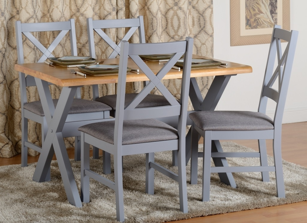 Portland Dining Set In Blue/grey | Ashgate Furniture Co (Image 15 of 25)