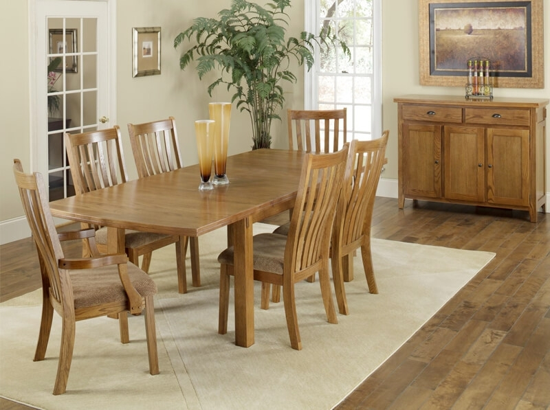 Portland Solid Oak 7 Piece Dining Group | Delano's Furniture And In Portland 78 Inch Dining Tables (Image 16 of 25)