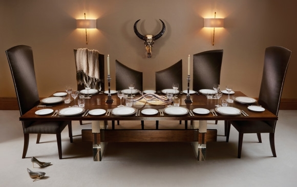 Posh Dining Chairs The Curve 10 Seater Dining Table And Chairs From In Dining Table And 10 Chairs (Image 21 of 25)