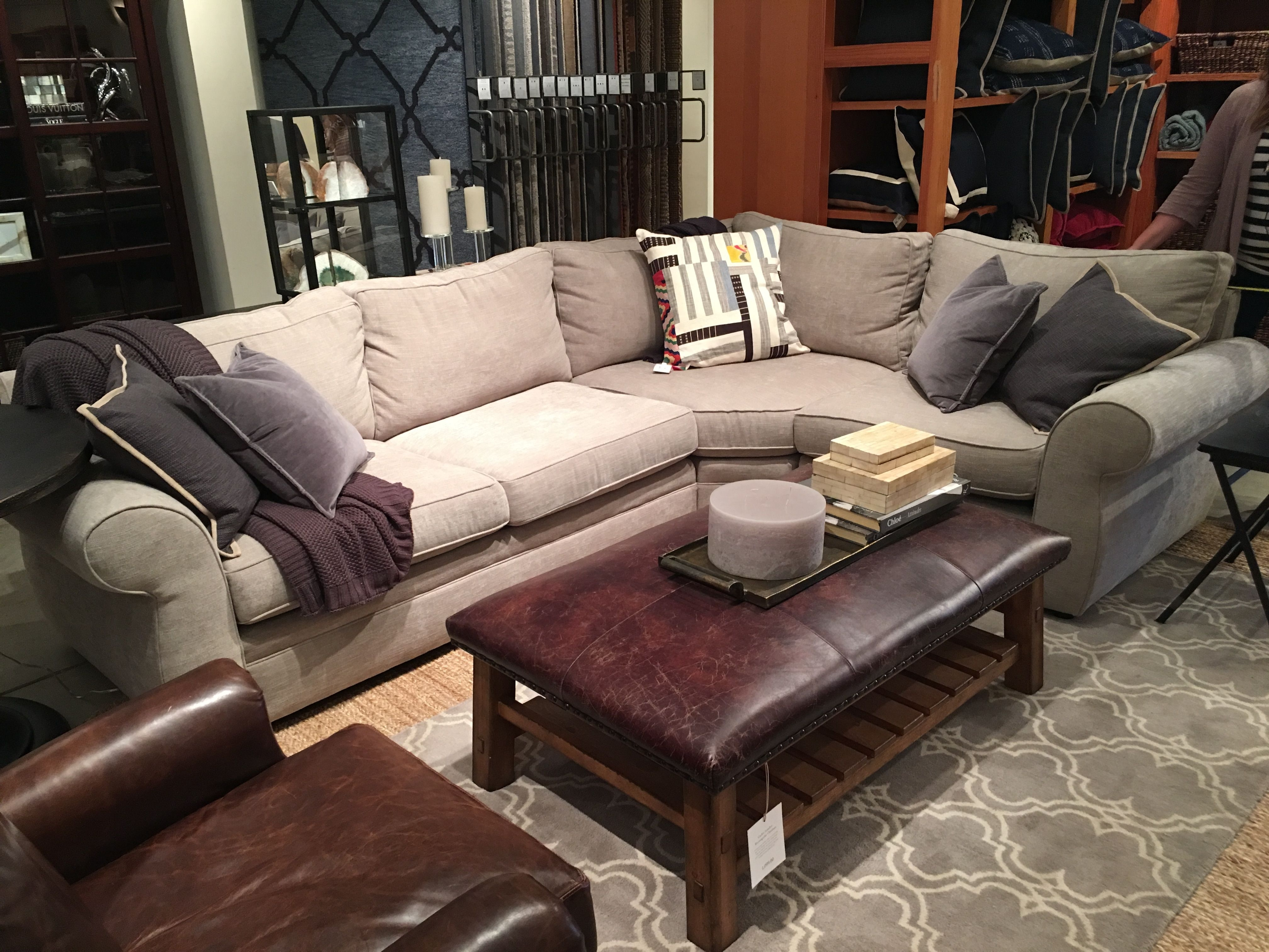 Pottery Barn | Pearce Sectional In Silver Taupe (Perfect Sofa And So Pertaining To Benton 4 Piece Sectionals (Image 17 of 25)