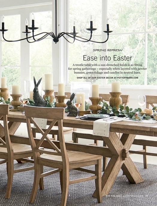 Pottery Barn – Spring 2017 D2 – Toscana Rectangular Dining Table, 70 Regarding Toscana Dining Tables (Image 10 of 25)